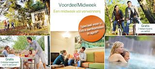 Voordeelmidweek, www.centerparcs.nl/MA6377 of www.centerparcs.nl/voordeelmidweek