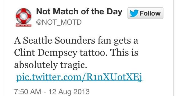 Inside d 39 s locker by darren m haynes fan gets clint for Seattle sounders tattoo