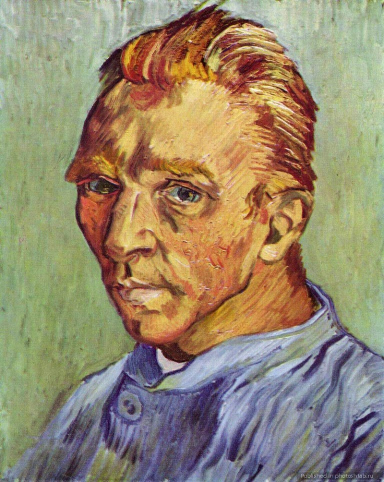 Vincent van Gogh Self-Portrait Without Beard