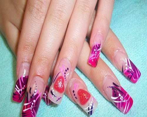 Nail salon designs designs salon 3d nail art super hip right now and 3d nail art prinsesfo Images