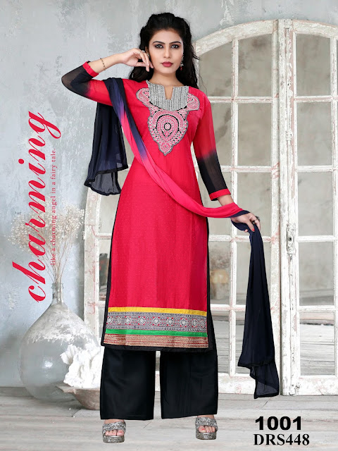 Fancy Cotton Embroidered Dress Material – Wholesale
