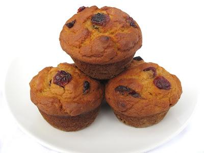 Vegan Sweet Potato and Cranberry Muffins