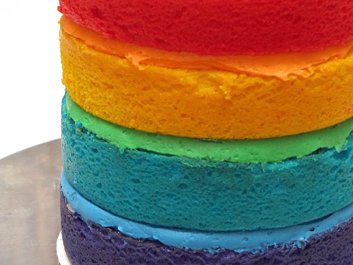 The Great Cake Company: Fat Tuesday: Rainbow Layer Cake