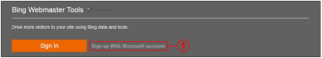 bing webmaster tool tutorial sign up to microsoft account - echotuts
