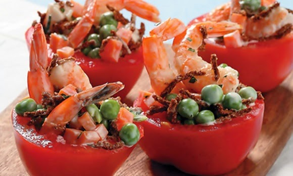 Tomate Relleno De Camaron