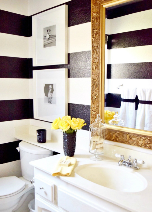 A Black And White Striped Wall That Reminds Me Of The Inside Of My Favorite Kate  Spade Bag.