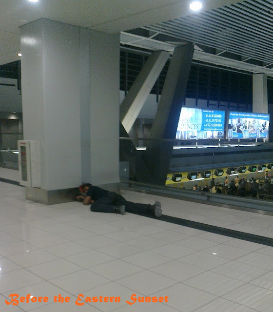Sleeping in NAIA Terminal 3