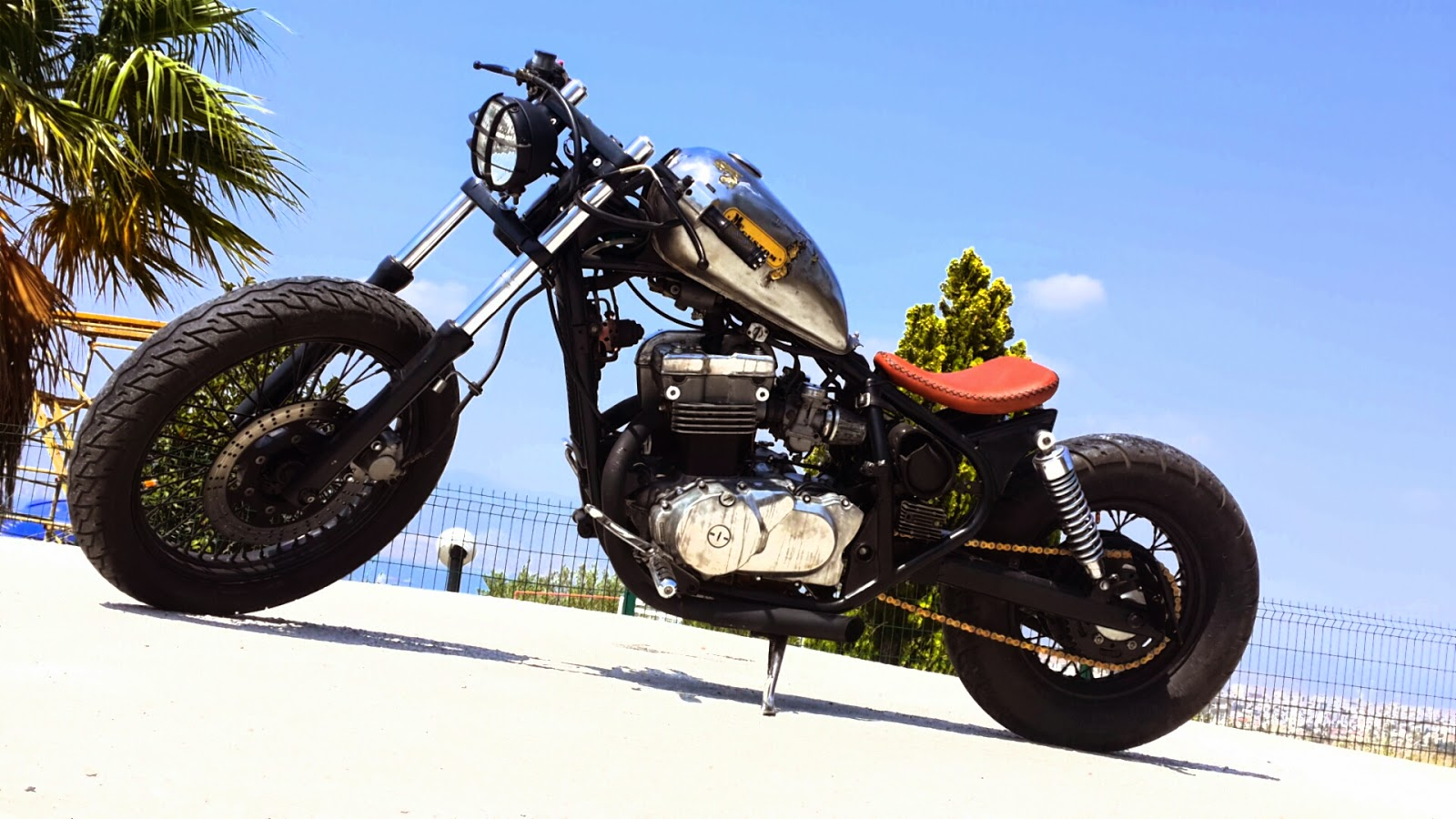 Otomotiv Forum  SATILIK CUSTOM OLD SCHOOL BOBBER KAWASAK   EN500