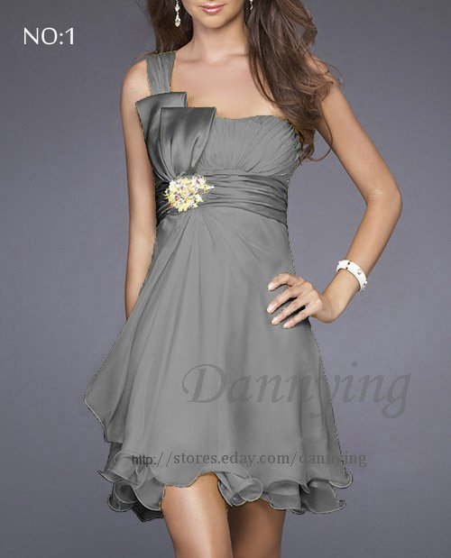 Grey Cocktail Dress hd gallery