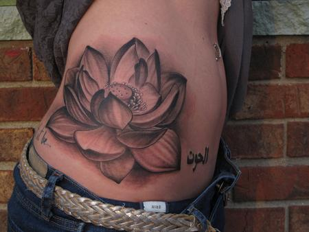flower side hip tattoos - photo #28