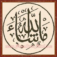 Pola Kristik Kaligrafi Masya Allah #3
