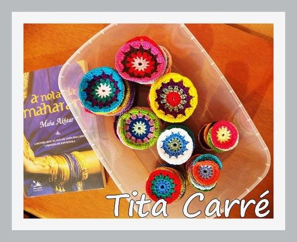 Círculos em crochet com A neta de Maharani
