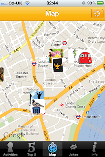 London Unlocked iPhone / iPad App and Guide Book, map view
