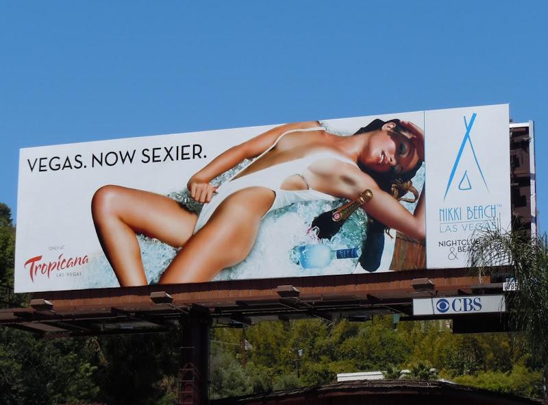 Nikki Beach Vegas bikini model billboard