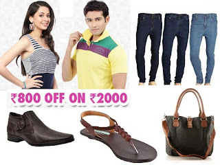 Homeshop18 Offer: Flat Rs.800 OFF on Rs.2000 on Clothing, Footwear & Accessories