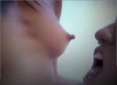 Commit error. White girl biting nipple