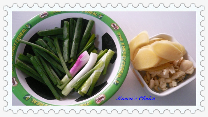 how to cut spring onions for stir fry
