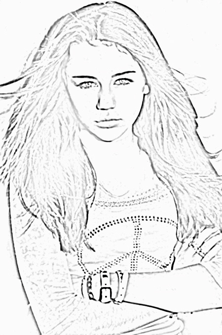 hanna montana coloring pages - Coloring Pages People Realistic