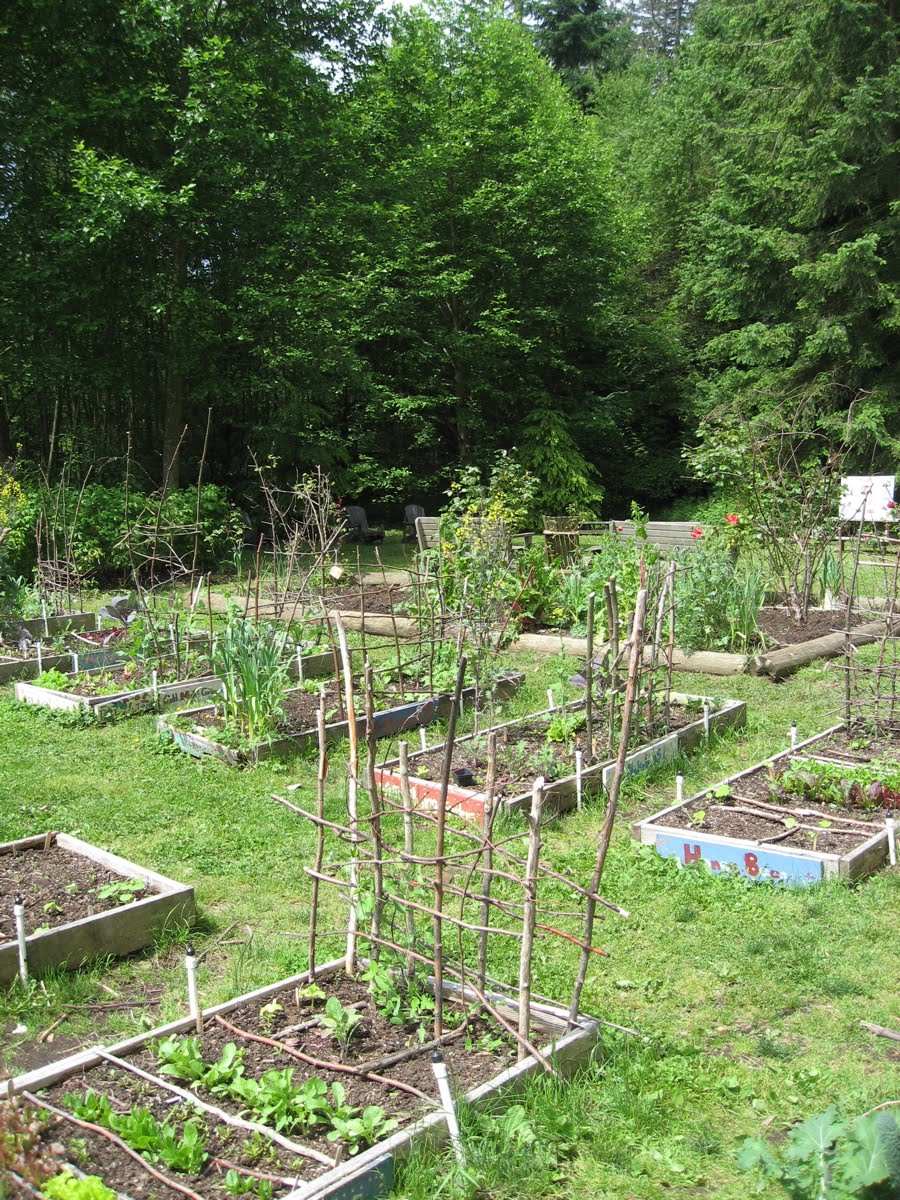 The Children's Garden is thisaway.