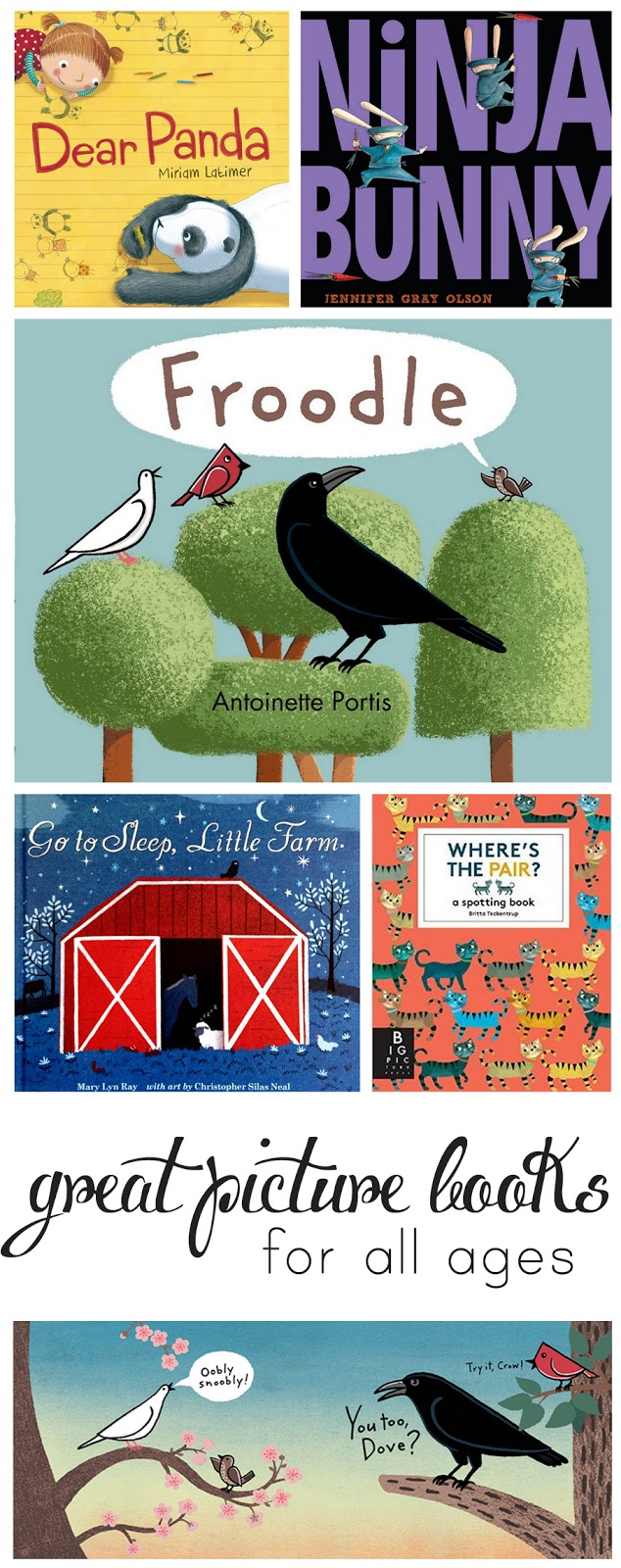 Great picture book pics from a mom and librarian - you won't mind reading these over and over again!
