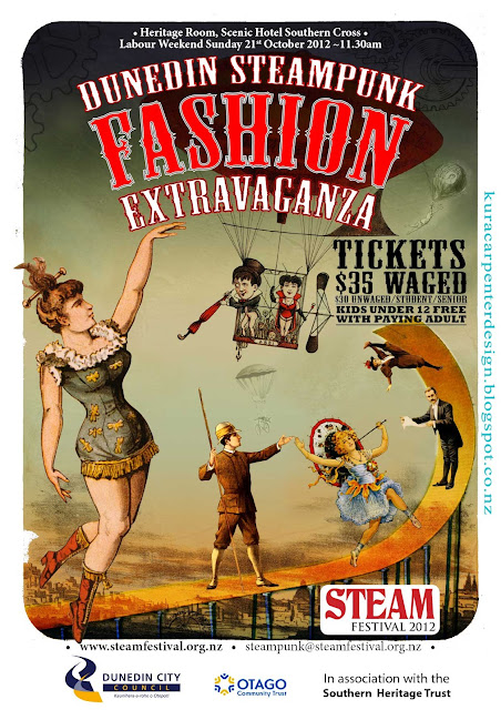 Steam Fest 2012 Steampunk Poster Designed by Kura Carpenter http://kuracarpenterdesign.blogspot.co.nz/