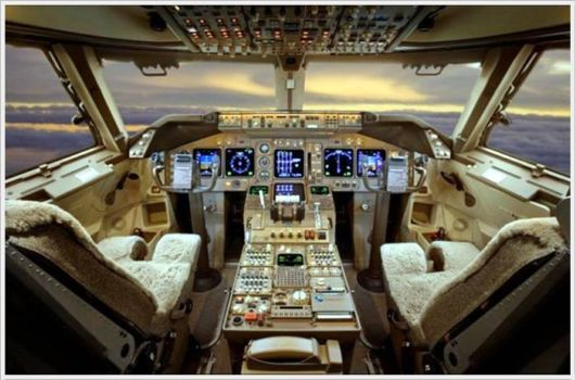 inside the private jets