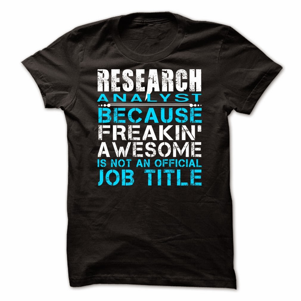 Research Analyst T Shirt