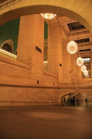 les chandeliers de GCT, New York