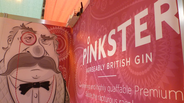 Pinksters Gin at the bbc good food show, pink gin