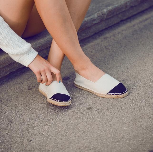 chanel cap toe espadrilles lookalike knockoff, nude black cap toe espadrilles, blogger