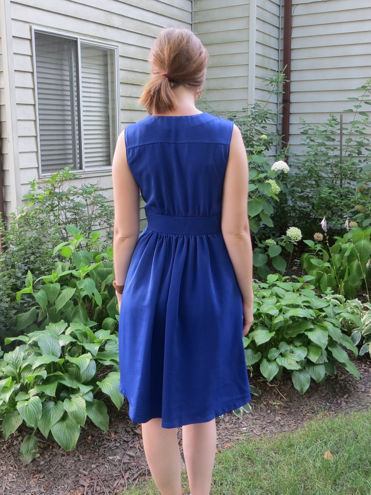 Royal blue dress for wedding guest