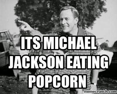 its michael jackson eating popcorn