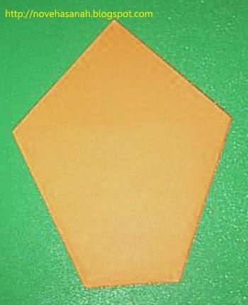 balikkan lipatan kertas origami