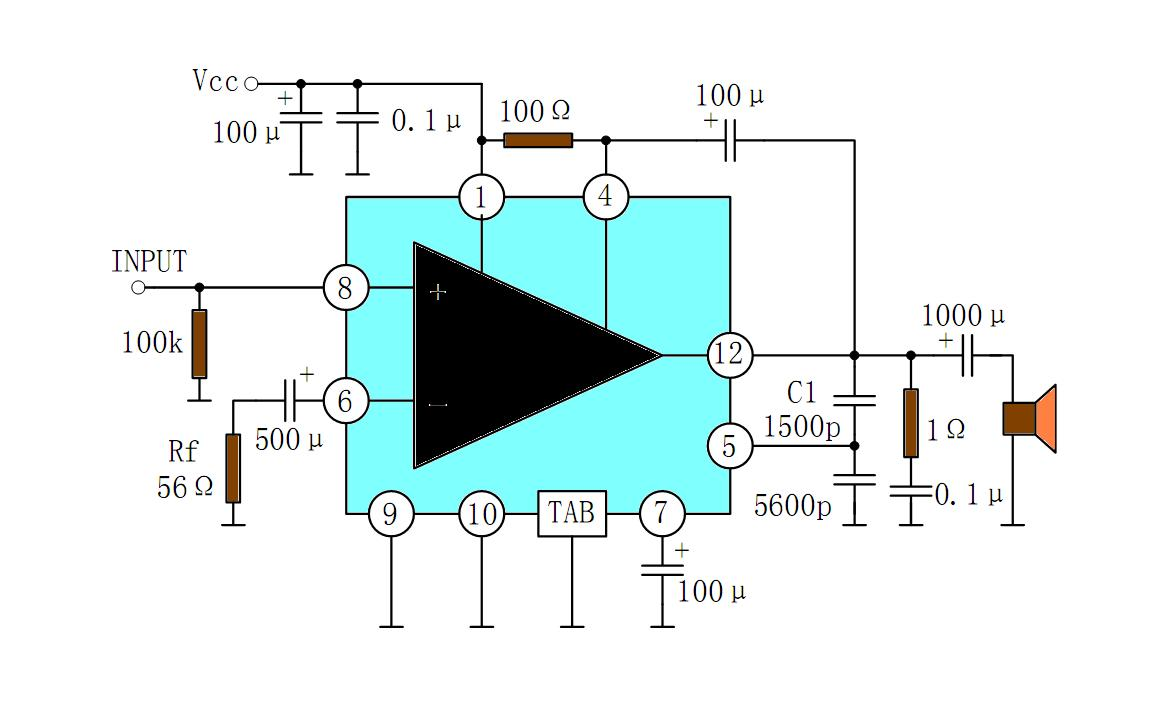 Achievement Ctc810 Pin Diagram Discription Want A Circuit To Make Simple Audio Amplifier From Datasheet Pinout Application Circuits 6w