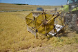 Pulse vegetables harvester. Old Lenz mower