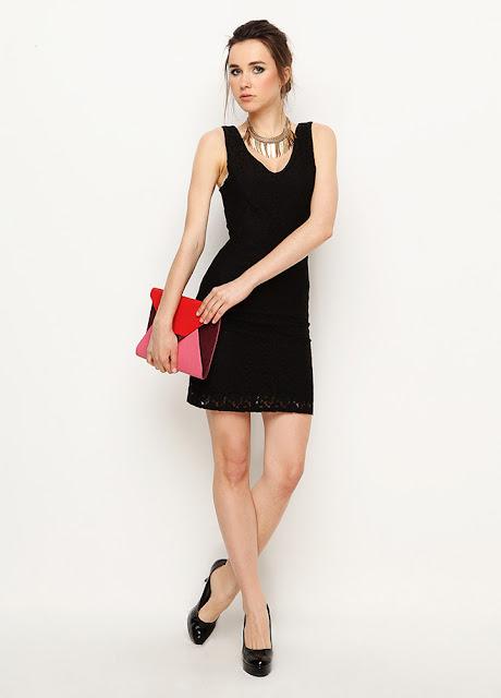 kısa siyah elbise