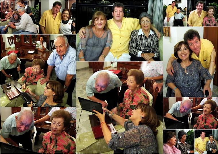 Collage en el apartamento de Lucia Mejía Ossa Vda de Mejía.