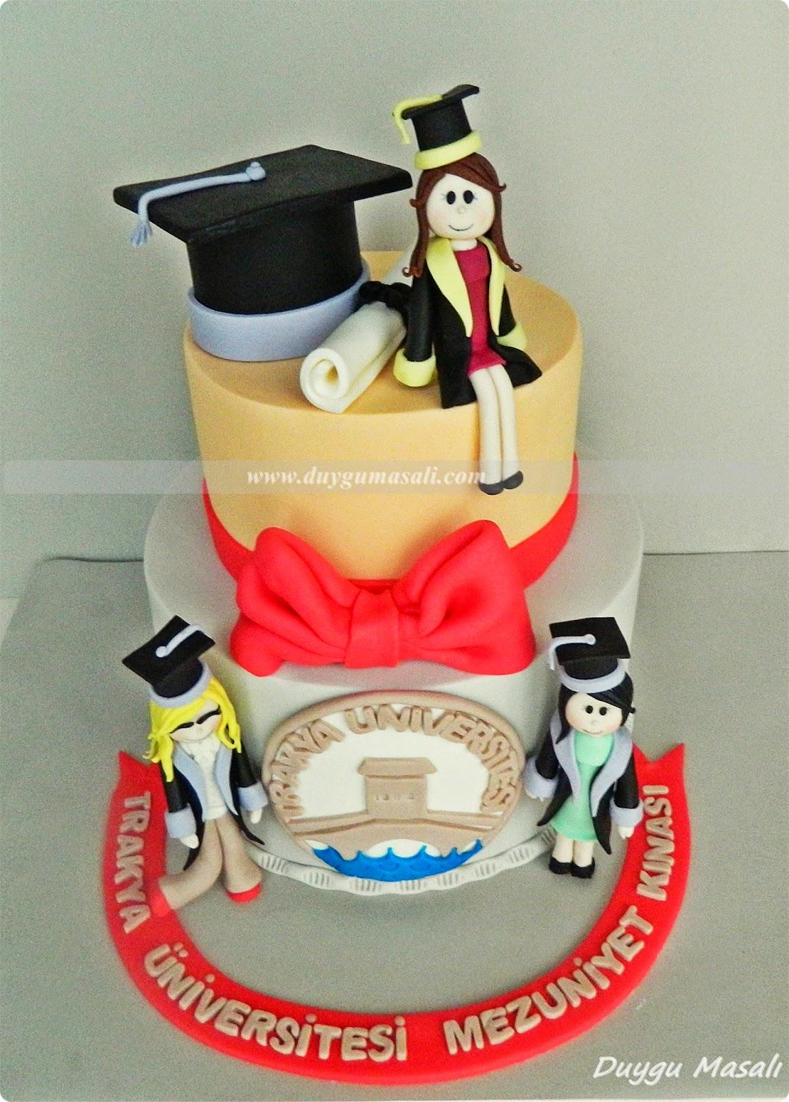 edirne mezuniyet pastası
