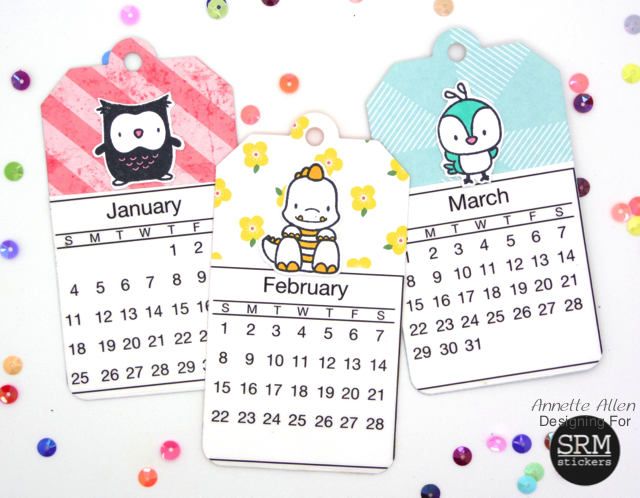 SRM Stickers Blog - 2015 Mini Calendar by Annette - #calendar #mini #2015 #stickers