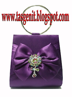tas pesta clutch bag dompet ungu