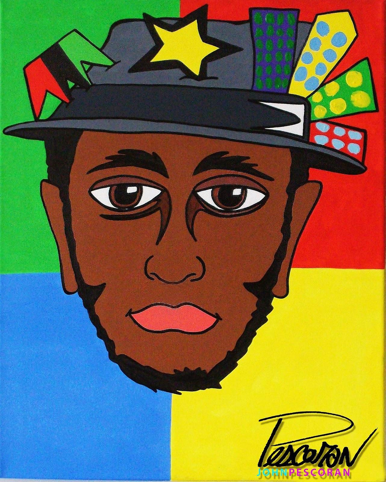 john pescoran surreal pop art portrait paintings series 1 musicians. Black Bedroom Furniture Sets. Home Design Ideas