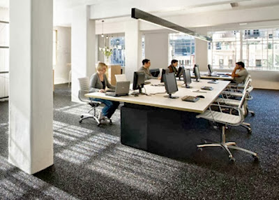ruang pegawai kantor minimalis
