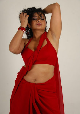 swathi varma ,armpit in red saree unseen pics