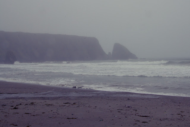 Ireland foggy sea