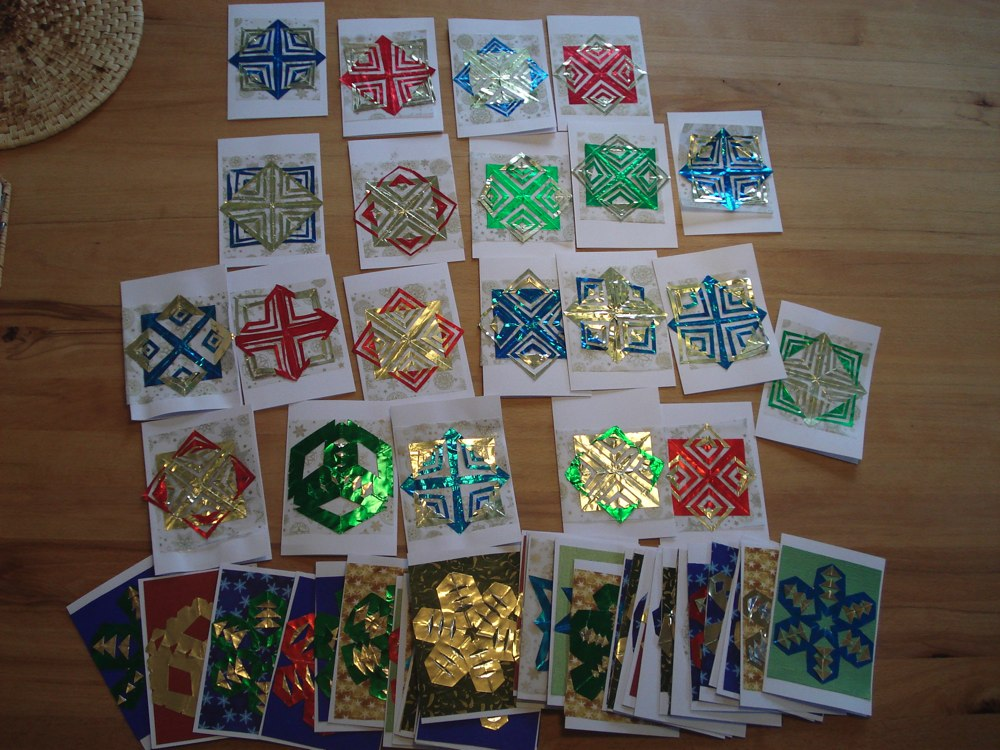 3rd Grade Christmas Party Ideas Part - 34: Crafting With 3rd Graders - Folded Foil Christmas Cards, Part 1