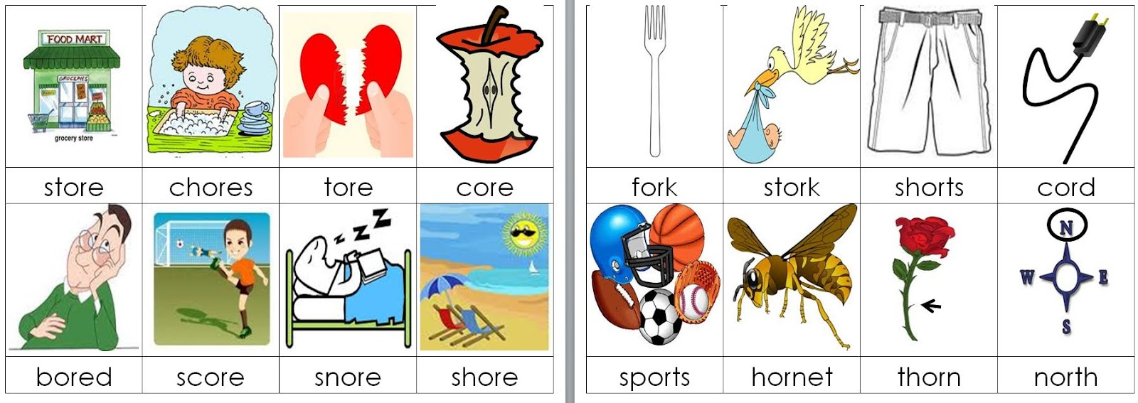 Fanciful First Grade: OR ORE Word Works Station