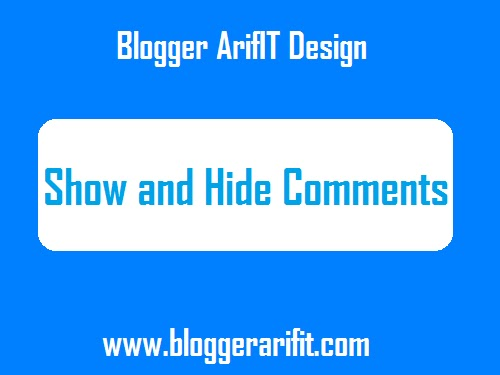 Add a Show and Hide Comments Button in Blogger