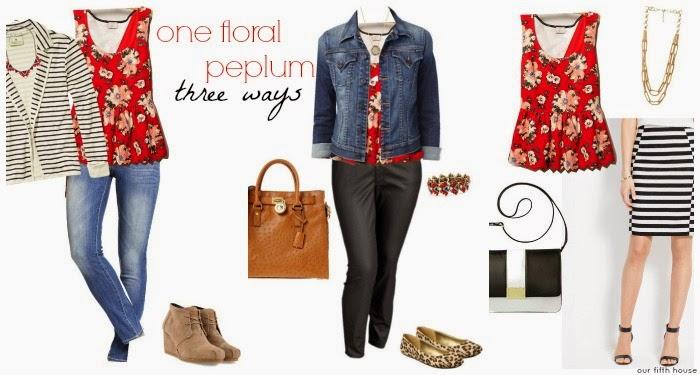 1 floral peplum 3 ways