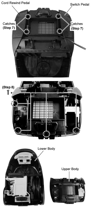 how to disassemble panasonic vacuum cleaner mc cgwg wiring disassembly of motor case set >