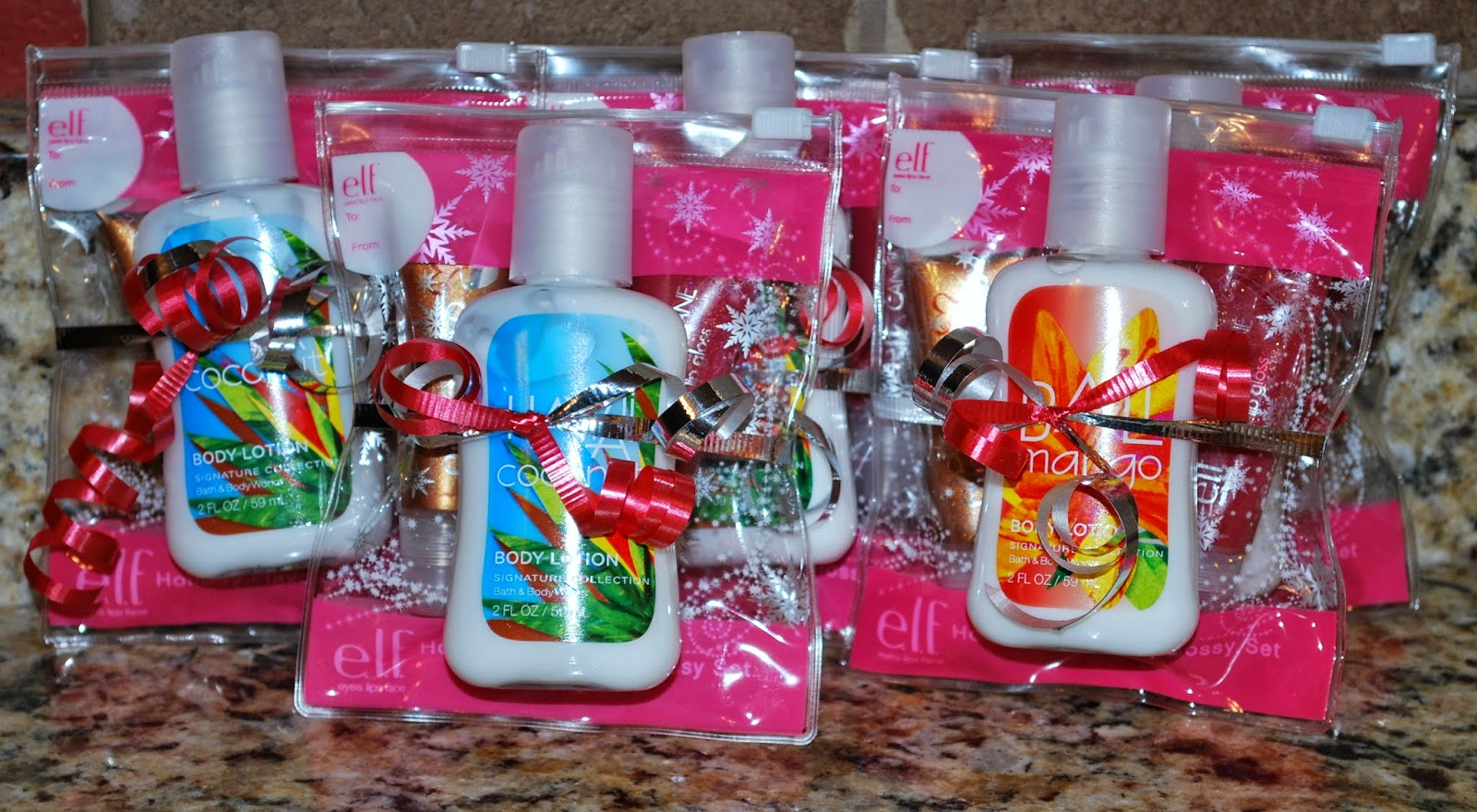 ... added a mini bottle of lotion for my daughter's friend gifts one year